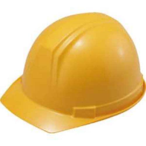 タニザワ ABS製ヘルメット(前ひさし・溝付型)EPA付 黄