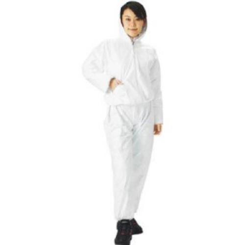 TRUSCO タイベック製作業服 フード付ツーピース XLサイズ
