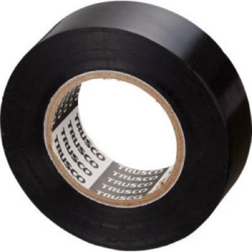 TRUSCO 脱鉛タイプビニールテープ 19mmX10m 10巻入り ブラック