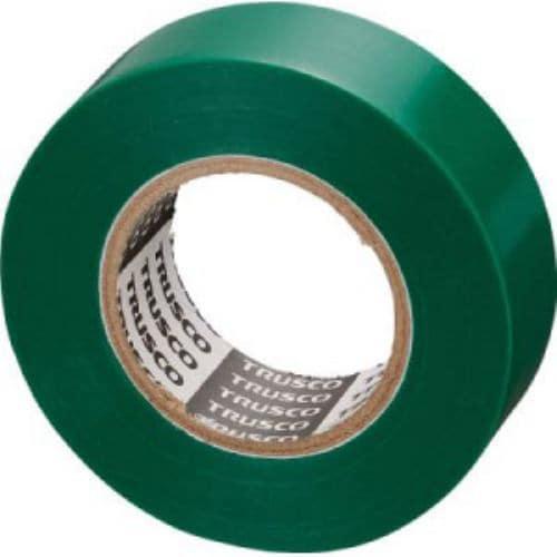 TRUSCO 脱鉛タイプビニールテープ 19mmX10m 10巻入り グリーン