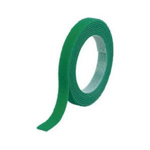 TRUSCO マジックバンド結束テープ 両面 幅10mmX長さ1.5m 緑