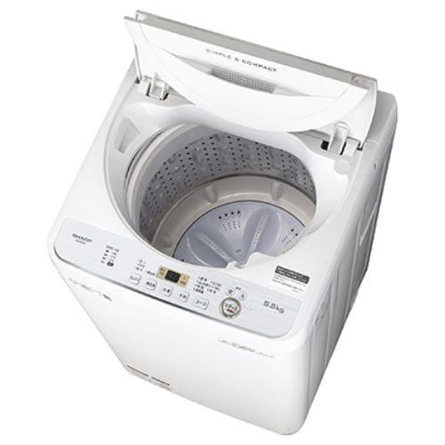 シャープ ES-GE5C-W 全自動洗濯機 (洗濯5.5kg) ホワイト系