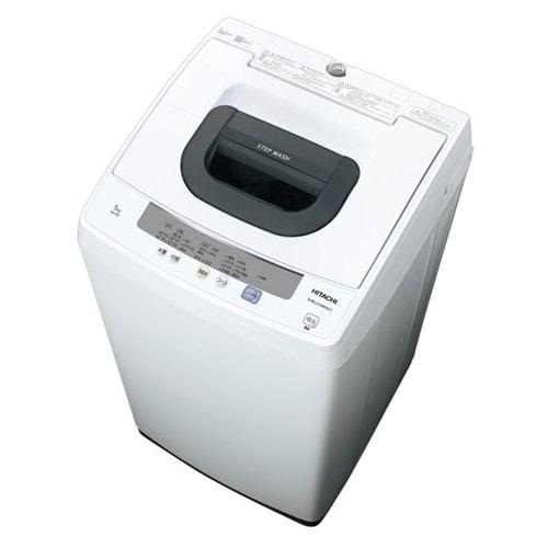 日立 NW-50E W タテ型全自動洗濯機 (洗濯・脱水5kg) ピュアホワイト