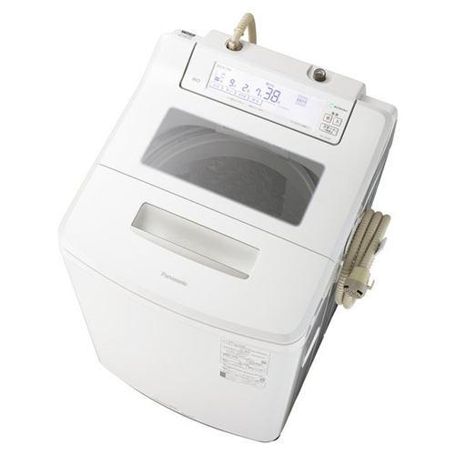 パナソニック NA-JFA807-W 全自動洗濯機 (洗濯8kg) 泡洗浄 クリスタルホワイト