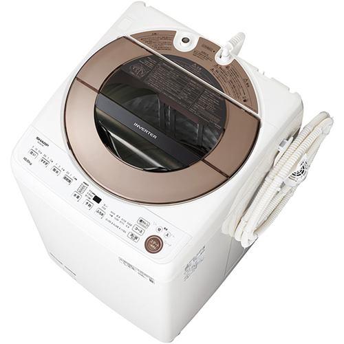 シャープ ES-GV10E-T 全自動洗濯機 (洗濯10kg) ブラウン系