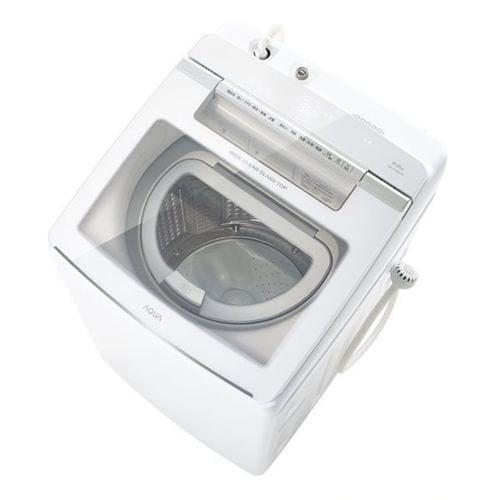 アクア AQW-GTW90J(W) タテ型洗濯乾燥機 (洗濯9kg・乾燥4.5kg) ホワイト系