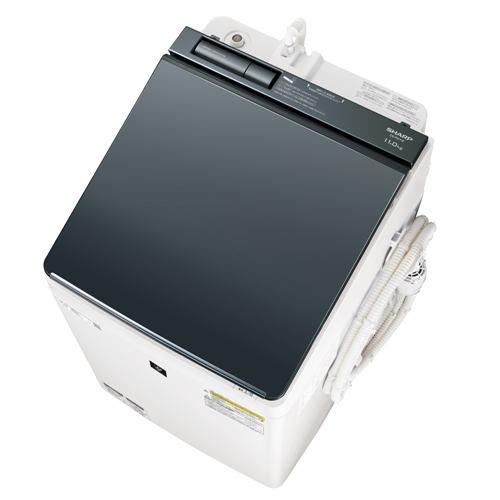 洗濯機 シャープ 乾燥機付き 8KG ES-PW11E 縦型洗濯乾燥機 (洗濯11.0kg/乾燥6.0kg) COCORO WASH シルバー系
