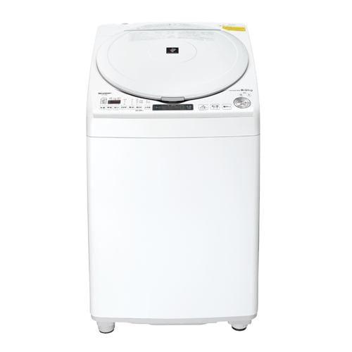 洗濯機 シャープ 乾燥機付き 8KG ES-TX8E 縦型洗濯乾燥機 (洗濯8.0kg/乾燥4.5kg) ステンレス穴なし槽 ホワイト系
