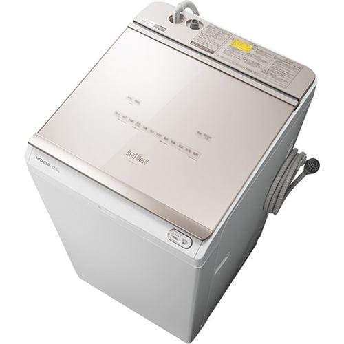 洗濯機 日立 乾燥機付き 12KG BW-DKX120F N 縦型洗濯乾燥機 (洗濯12kg) ビートウォッシュ シャンパン