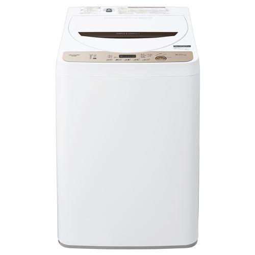 シャープ ES-GE6E-T 全自動洗濯機 (洗濯・乾燥6.0kg) ブラウン系
