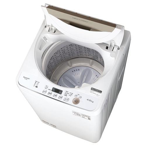 シャープ ES-GE4E-C 全自動洗濯機 (洗濯・乾燥4.5kg) ベージュ系