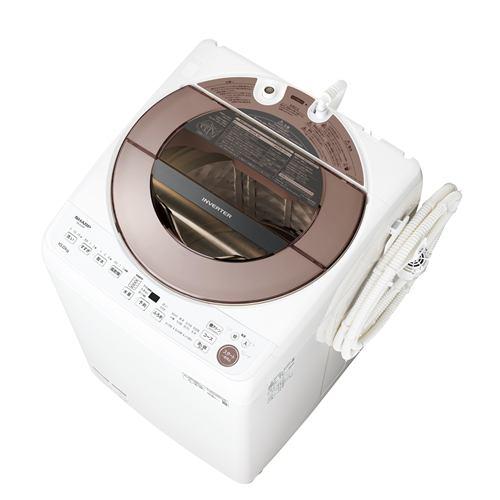 シャープ ESGV10F インバーター洗濯機 ステンレス穴なし槽 (洗濯10kg) ブラウン系