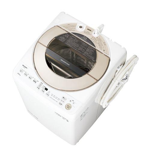 シャープ ESGV9F インバーター洗濯機 ステンレス穴なし槽 (洗濯9kg) ゴールド系