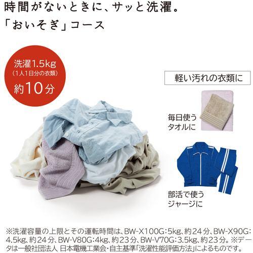 日立 BW-V80G W 全自動洗濯機 (洗濯8kg) ホワイト