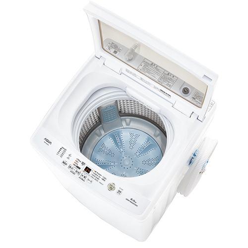 AQUA AQW-V8M(W) 全自動洗濯機 (洗濯8.0kg)