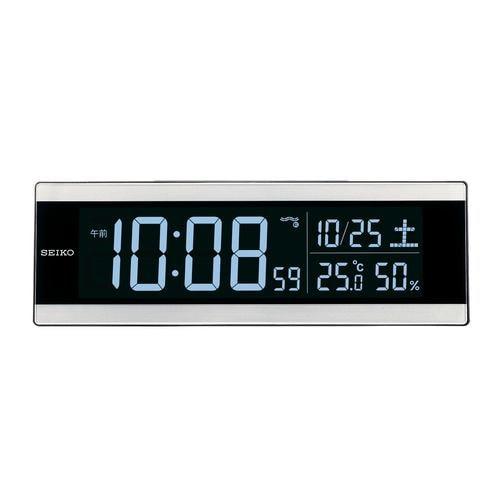 セイコークロック DL306S 電波目覚まし時計 SEIKO シルバー
