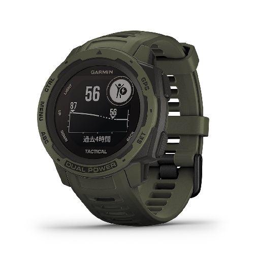GARMIN 010-02293-48 Instinct Dual Power Tactical Edition Moss DualPower GPS 心拍計 ABCセンター MGRS