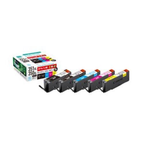 インク エコリカ カートリッジ ECI-C351XL-5P キヤノンBCI-351XL+350XL/5MP互換リサイクルインクカートリッジ 5色パック