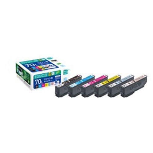 インク エコリカ カートリッジ ECI-E70L-6P エプソンIC6CL70L互換リサイクルインクカートリッジ 6色パック