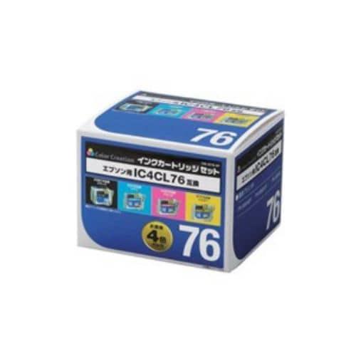 カラークリエイション CIE-IC76-4P エプソン用互換インクカートリッジ   4色セット