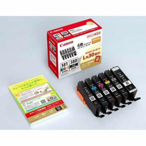 インク キヤノン 純正 カートリッジ インクカートリッジ BCI-381+380/6MP BCI-381+380/6MP(6色マルチパック)+写真用紙(L判)30枚付き インク