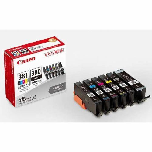 インク キヤノン 純正 カートリッジ インクカートリッジ BCI-381S+380S/6MP インクタンク マルチパック 6色・小容量 インク