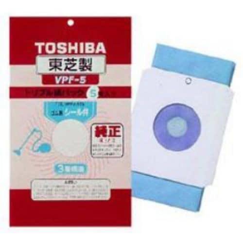 東芝 掃除機用 シール弁付トリプル紙パック(5枚入り) VPF-5