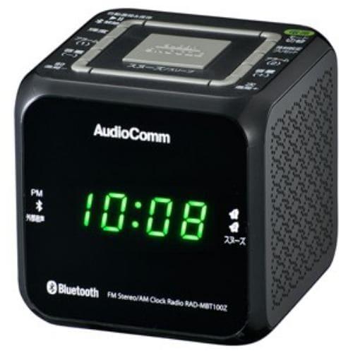 ラジオ 電機    RAD-MBT100Z-K ワイドFM/ AM クロックラジオ(ブラック)
