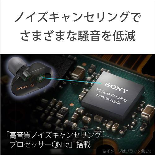 イヤホン ソニー    WF-1000XM3B ワイヤレスノイズキャンセリングヘッドセット B ワイヤレスイヤホン