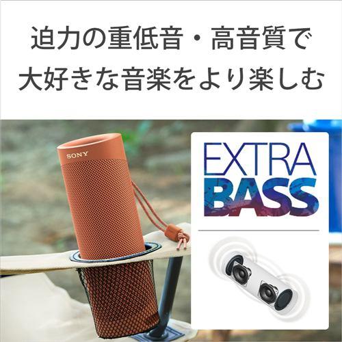 スピーカー ソニー    SRS-XB23 RC ワイヤレスポータブルスピーカー レッド