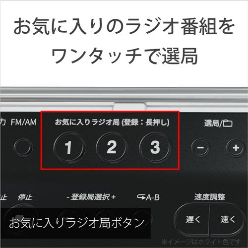 ソニー CDラジオ ホワイト ZS-E80-WC