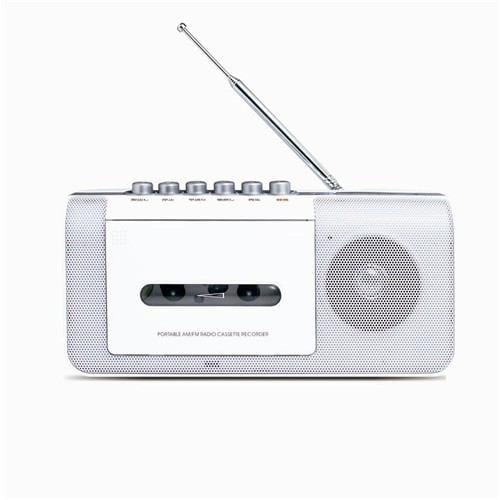 ステイヤー ST-RC01WH AM/FMラジオ カセットテープレコーダー ホワイト