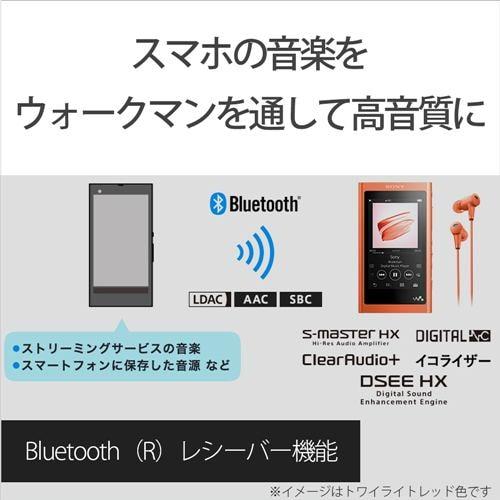 ソニー NW-A55BM ウォークマン A50シリーズ 16GB グレイッシュブラック