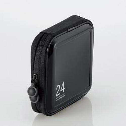 エレコム CCD-H24BK CD/DVDファスナーケース 24枚収納 ブラック