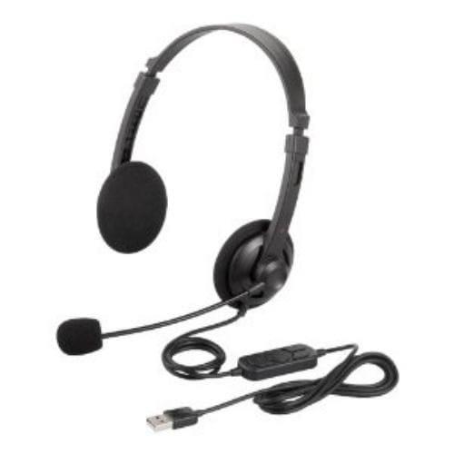 ヘッドセット バッファロー BSHSUH12BK 両耳ヘッドバンド式ヘッドセット USB接続 ブラック
