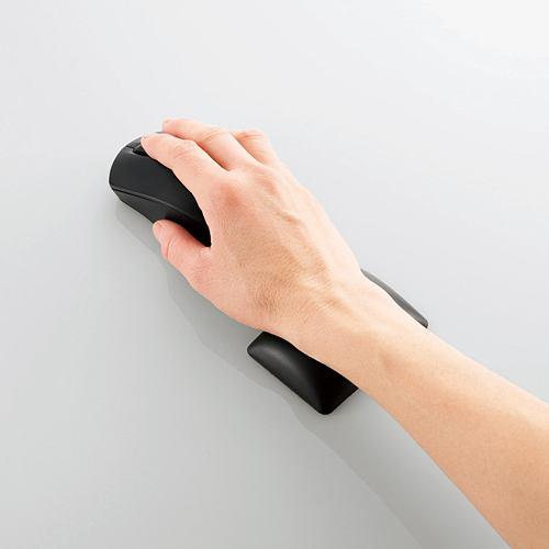 マウスパッド エレコム リストレスト MOH-FTRBK 疲労軽減リストレスト「FITTIO」 ブラック