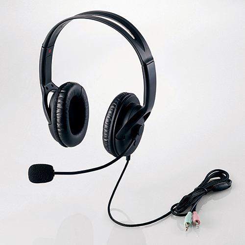 エレコム HS-HP28BK ヘッドセット(両耳大型オーバーヘッドタイプ) ブラック