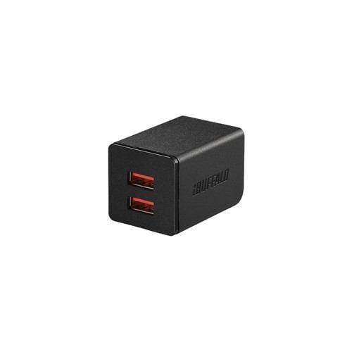 バッファロー BSMPA2402P2TBK 2.4A出力 AC-USB急速充電器 2ポートタイプ ブラック