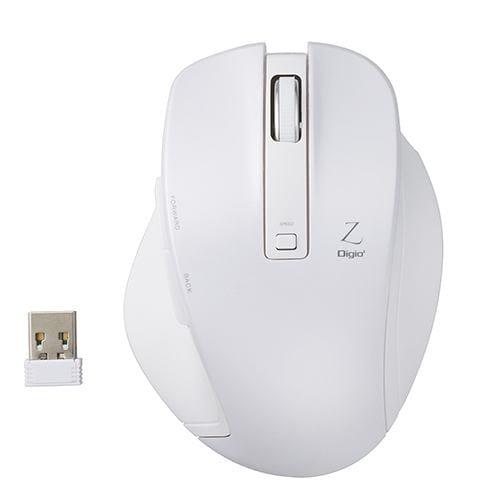 ナカバヤシ MUS-RKF129W BlueLED 無線マウス Z 5ボタン Mサイズ 2.4GHz ホワイト