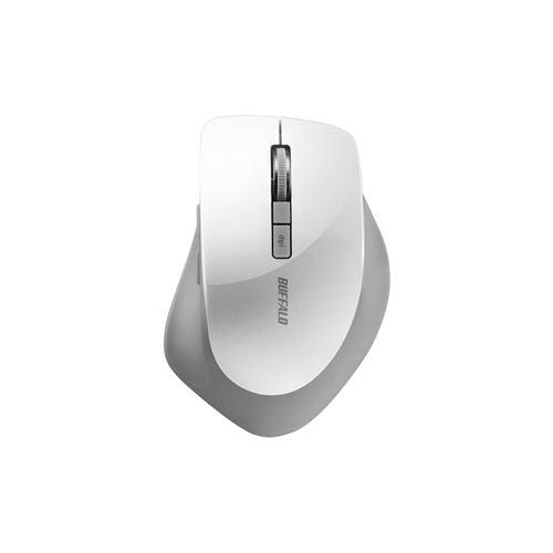 バッファロー BSMBW320WH 無線(2.4GHz)BlueLEDマウス 静音/5ボタン/DPI切り替えタイプ ホワイト