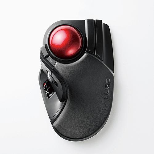 マウス エレコム 無線 ワイヤレス M-HT1DRBK ワイヤレストラックボール 人差し指・中指操作タイプ ブラック