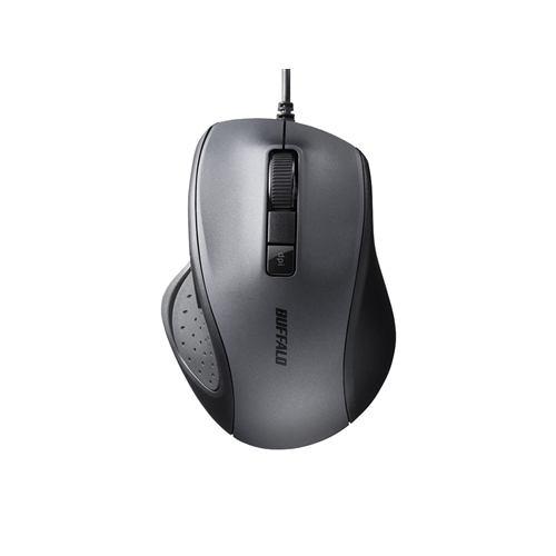 マウス バッファロー 有線 BSMBU300BK 有線BlueLED光学式マウス 静音/5ボタン/DPI切り替えボタン ブラック