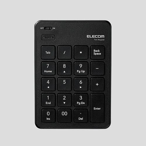 キーボード エレコム Bluetooth 無線 ワイヤレス TK-TBP020BK Bluetooth薄型テンキーパッド ブラック