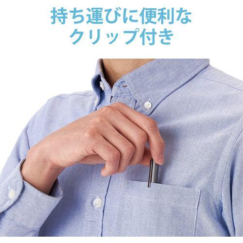 エレコム P-TPACSTAP01GY アクティブタッチペン リチウム充電式 iPad専用 パームリジェクション対応 ペン先交換可能 グレー