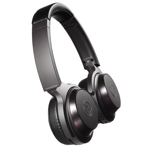 オーディオテクニカ ATH-WS330BT BK ワイヤレスヘッドホン 重低音 マイク対応 ブラック