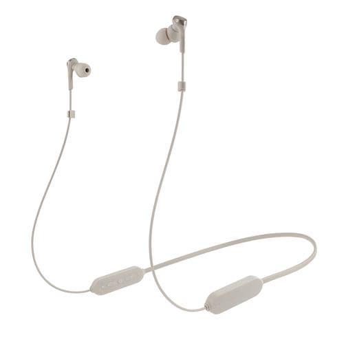 オーディオテクニカ ATH-CKS330XBT BG ワイヤレスイヤホン Bluetooth ネックバンド マイク対応 ベージュ
