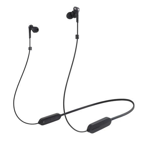 オーディオテクニカ ATH-CKS330XBT BK ワイヤレスイヤホン Bluetooth ネックバンド マイク対応 ブラック