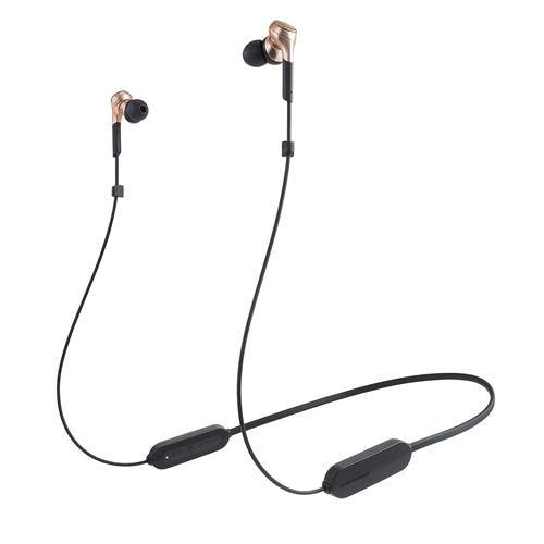 オーディオテクニカ ATH-CKS660XBT CGD ワイヤレスイヤホン Bluetooth ネックバンド マイク対応 カッパーゴールド