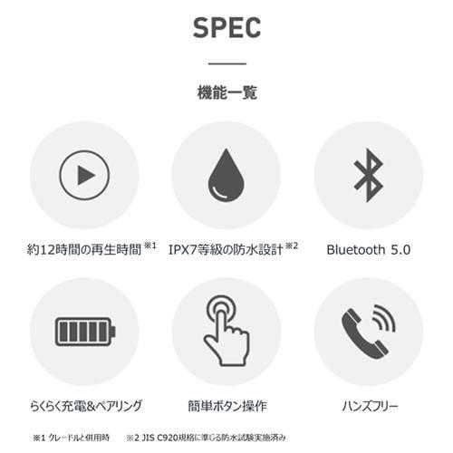 BOCO PEACETW1BK earsopen PEACE TW-1 (B) 完全ワイヤレス骨伝導イヤホン ブラック