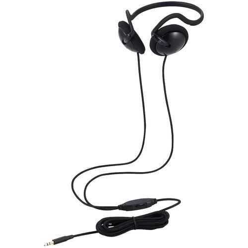 エレコム EHP-TV12O3BK テレビ用ステレオヘッドホン ネックバンド φ30mmドライバー Affinity sound ナイロンメッシュ 3.0m ブラック